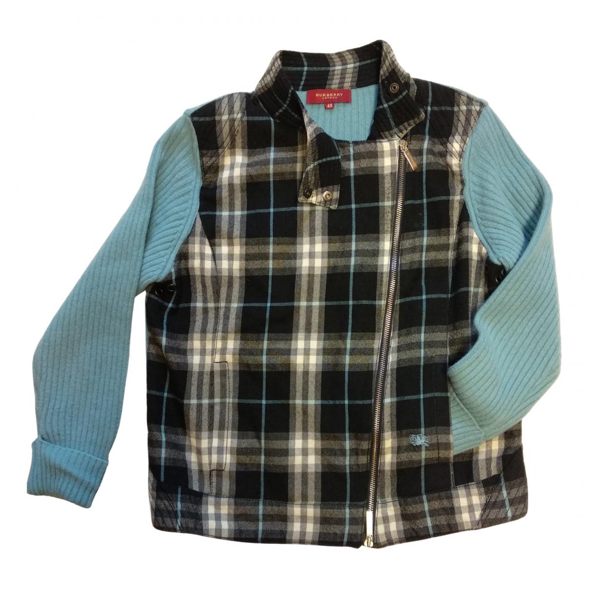 Burberry - Veste   pour femme en laine - bleu