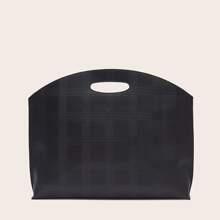 Large Capacity Plaid Bag