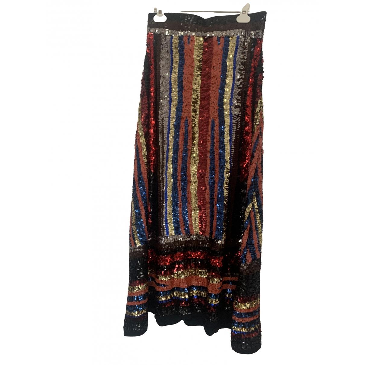 Falda maxi de Con lentejuelas Zara