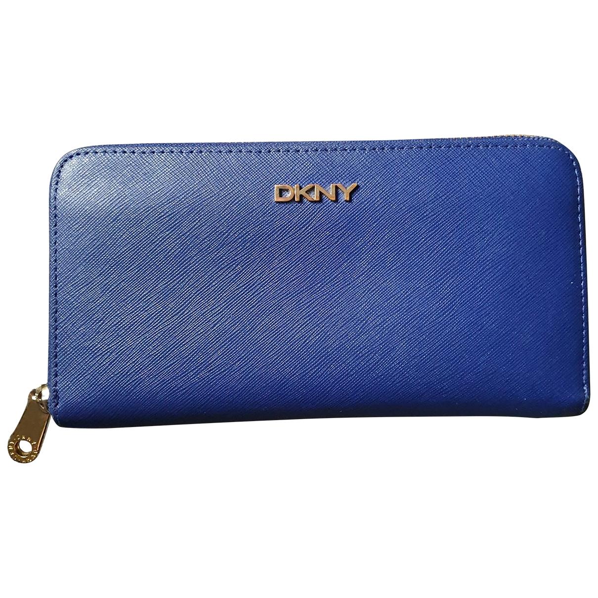 Dkny - Portefeuille   pour femme en cuir - bleu