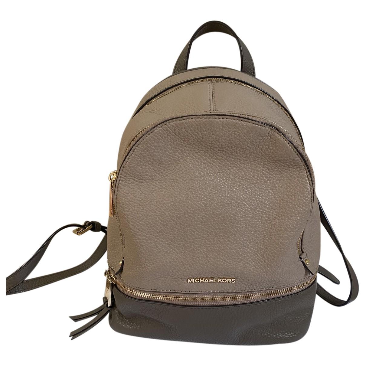 Michael Kors Rhea Brown Leather backpack for Women N