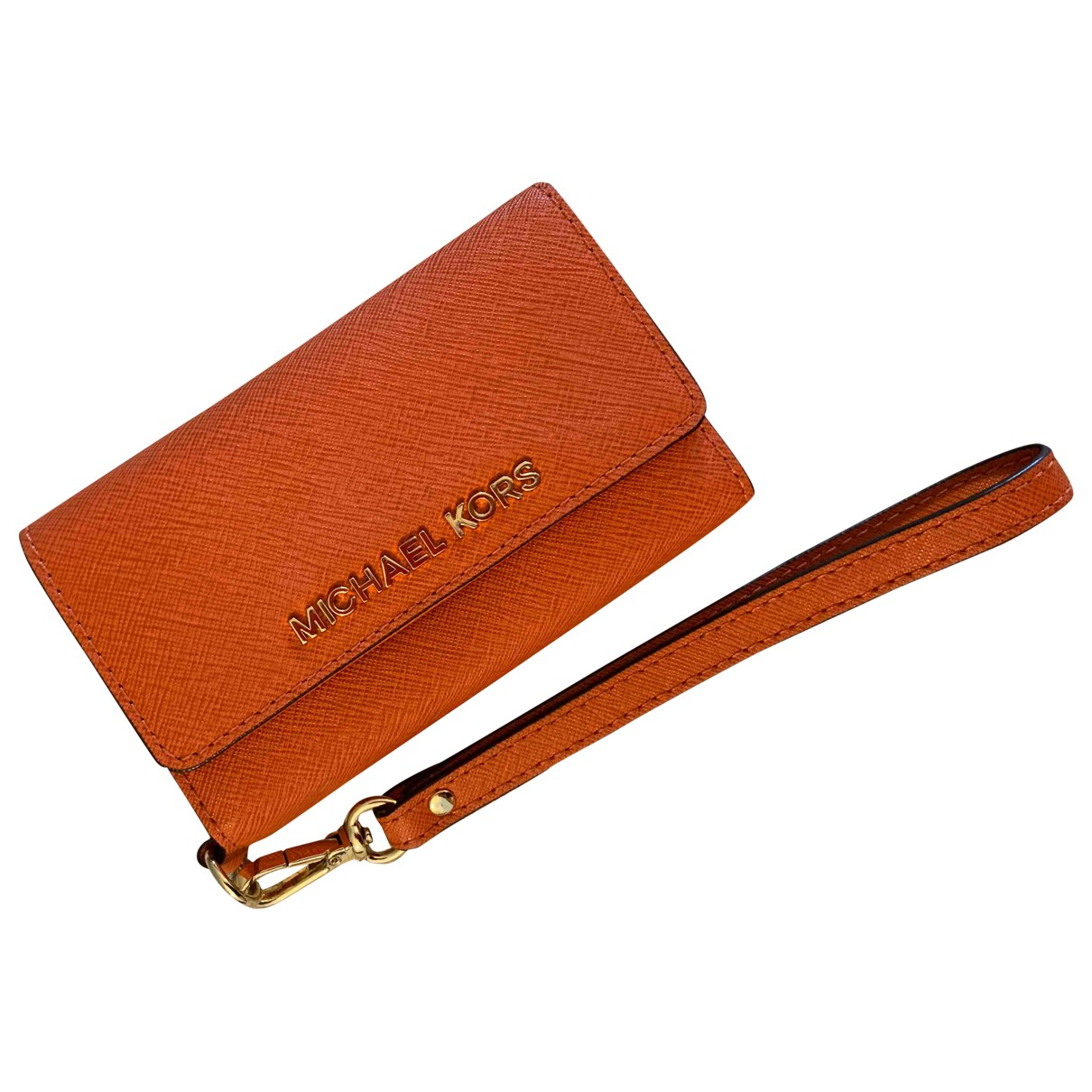 Michael Kors \N Orange Leather Purses, wallet & cases for Women \N