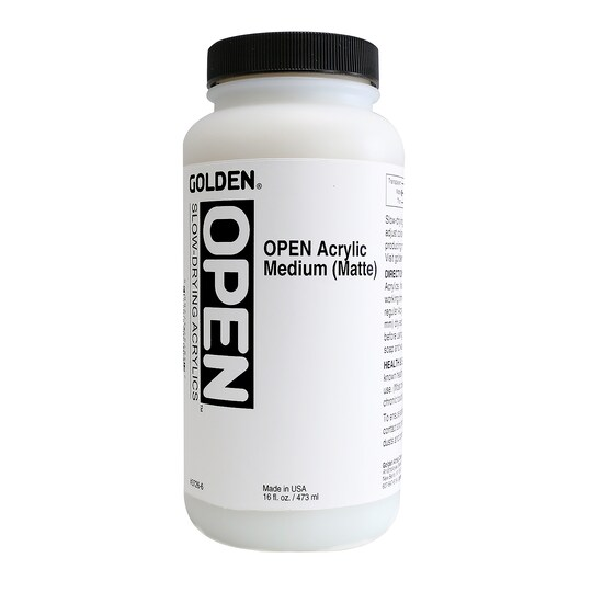 Golden® Open Acrylic Matte Medium in Clear | 16 oz | Michaels®