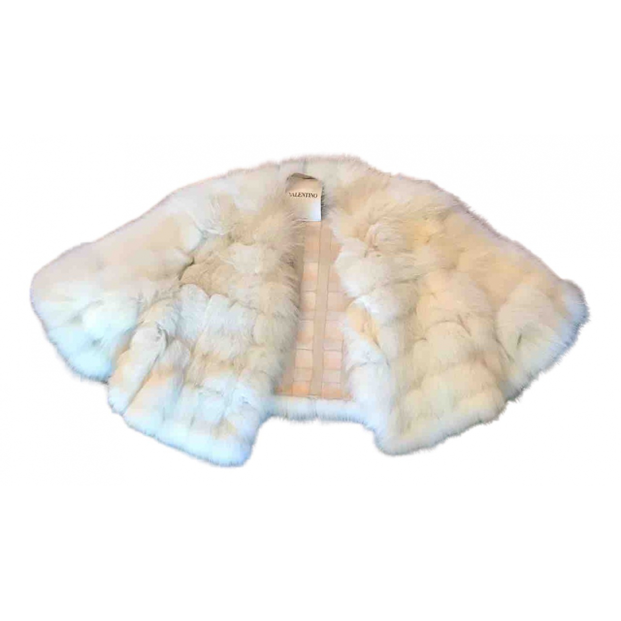 Valentino Garavani \N White Fox jacket for Women 38 IT