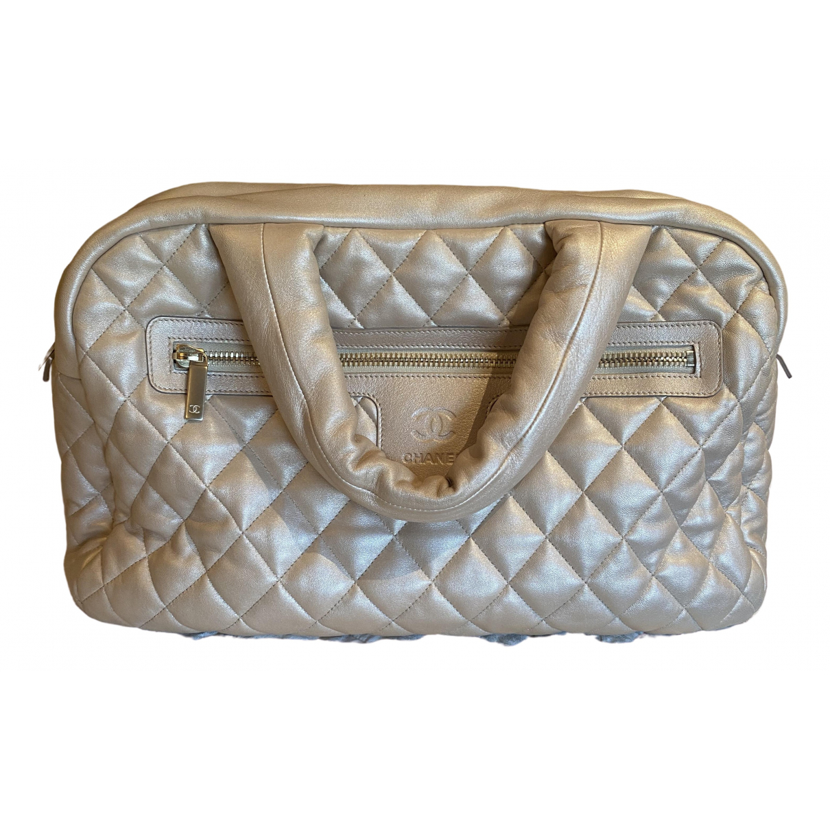 Chanel - Sac de voyage Coco Cocoon pour femme en cuir - dore