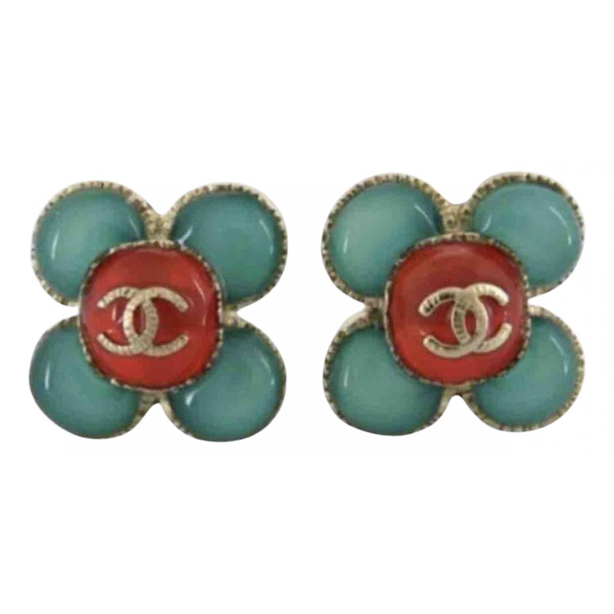 Chanel - Boucles doreilles   pour femme en metal - multicolore