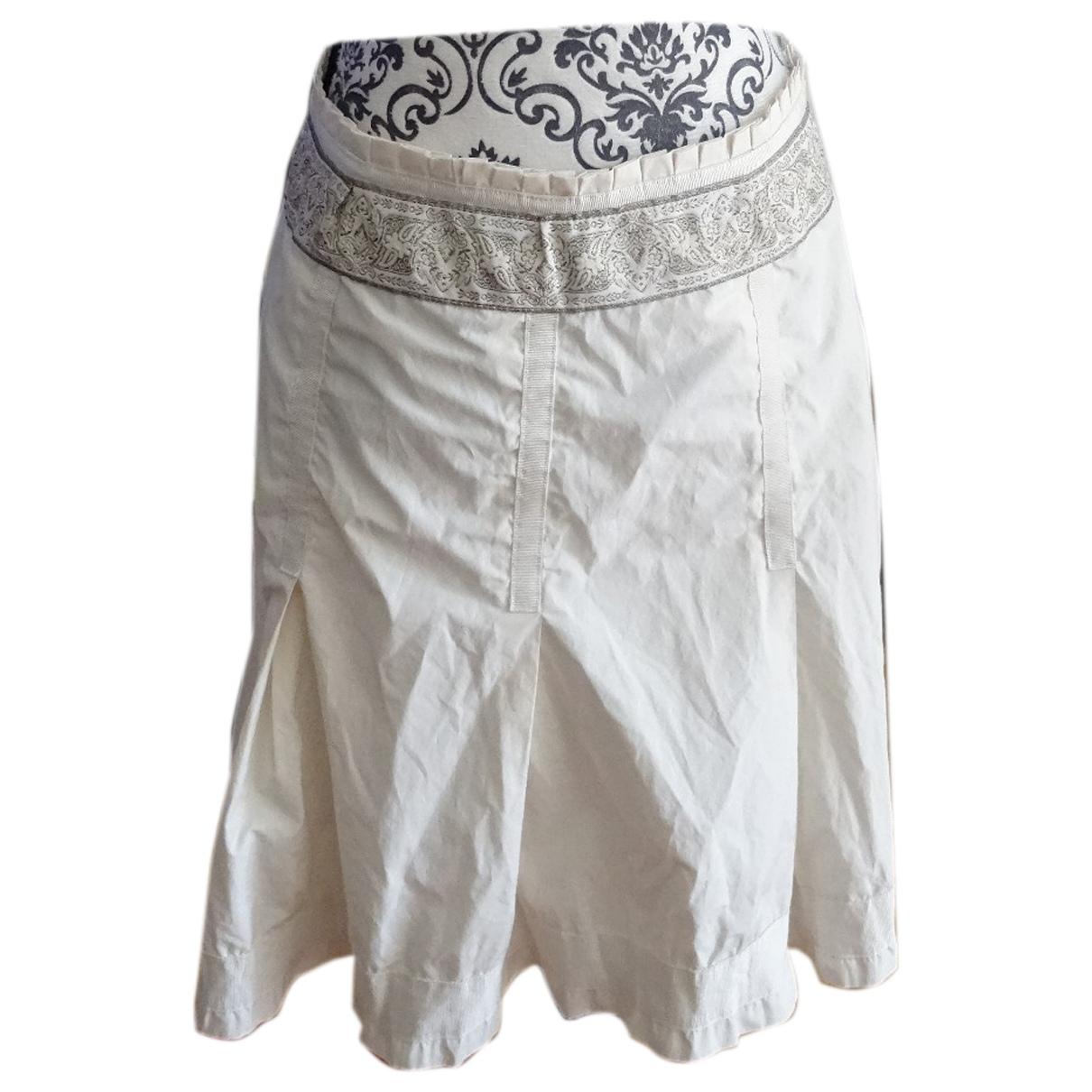 Zapa \N Beige Cotton skirt for Women 38 FR