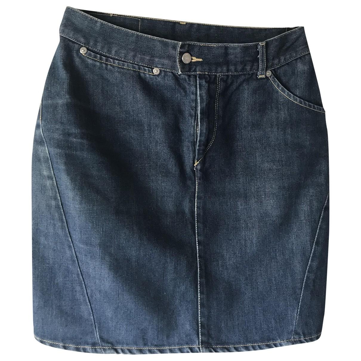 Levis - Jupe   pour femme en coton - bleu