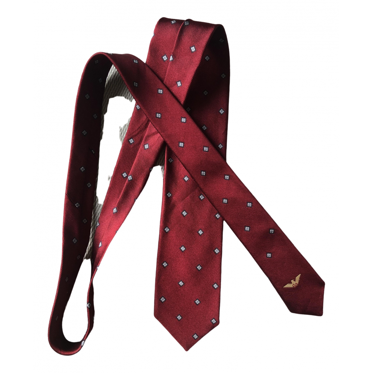 Giorgio Armani \N Krawatten in  Bordeauxrot Seide