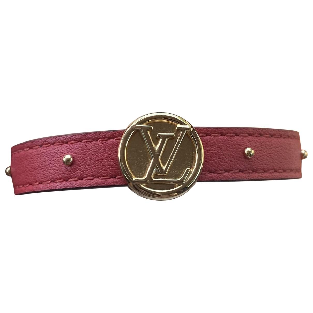 Louis Vuitton - Bracelet   pour femme en cuir - marron