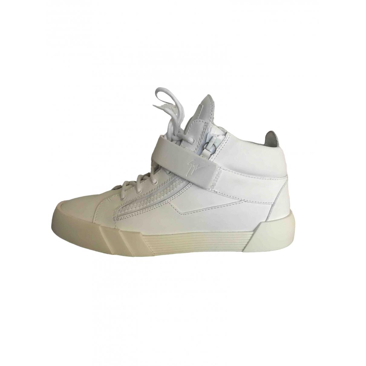 Giuseppe Zanotti \N Sneakers in  Weiss Leder