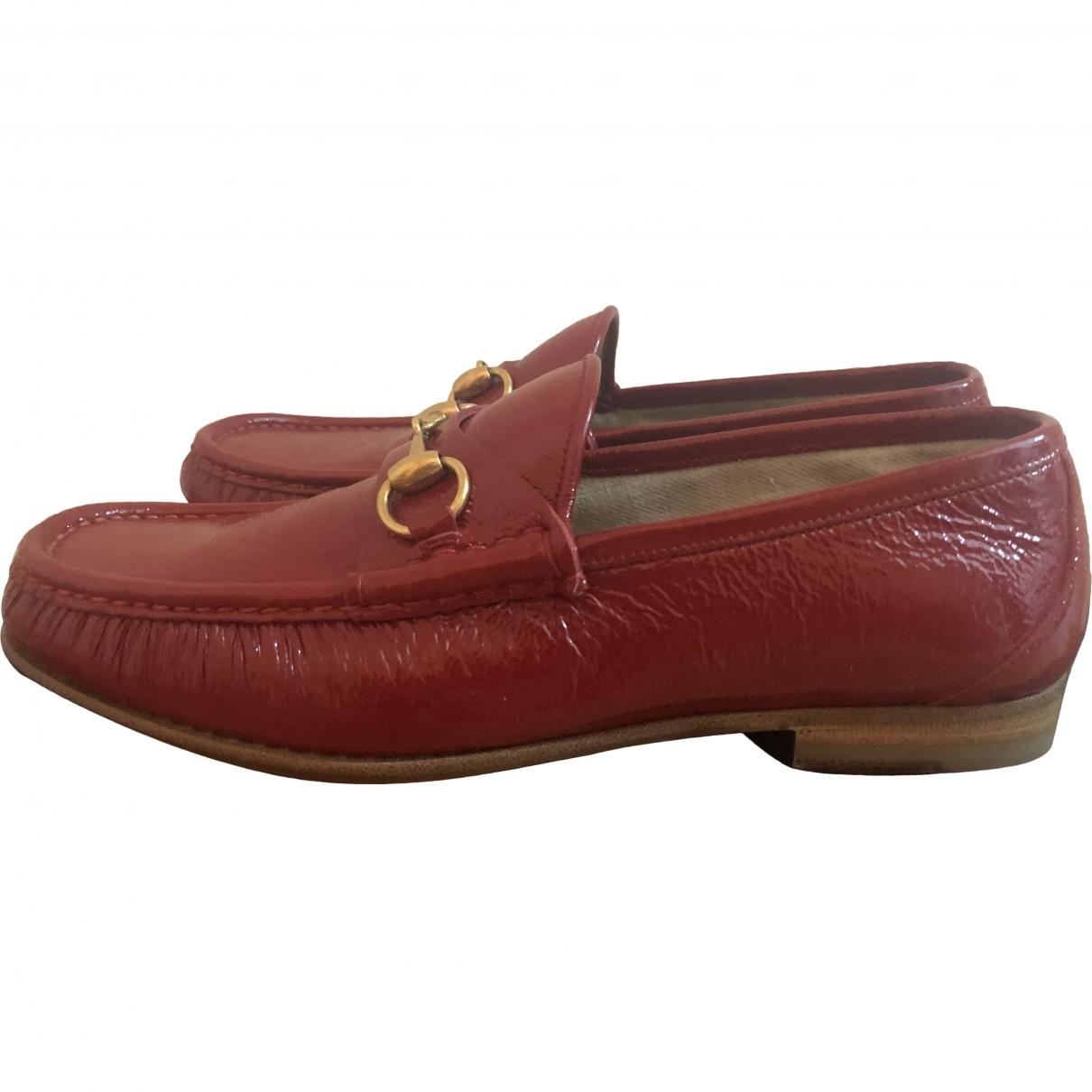 Gucci \N Red Patent leather Flats for Men 7.5 UK