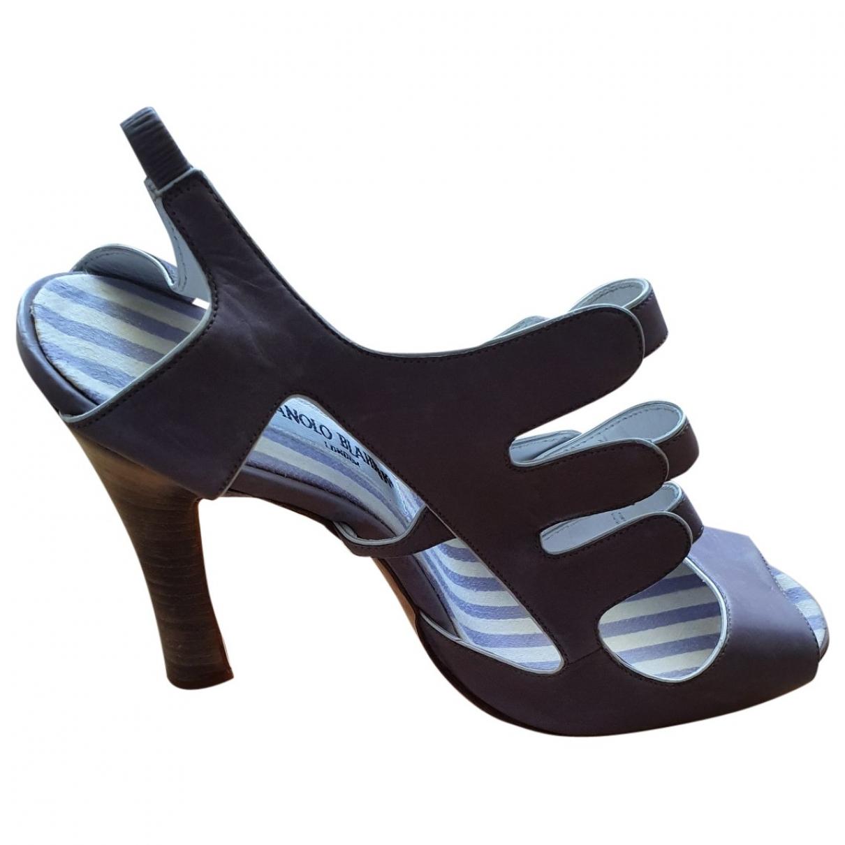 Manolo Blahnik - Sandales   pour femme en cuir