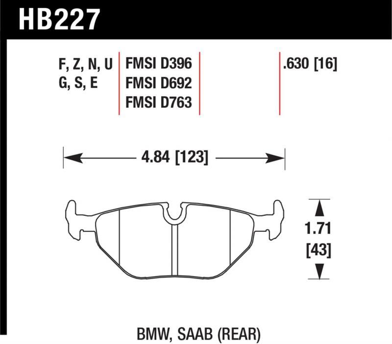 Hawk Performance HB227V.630 Disc Brake Pad Rear