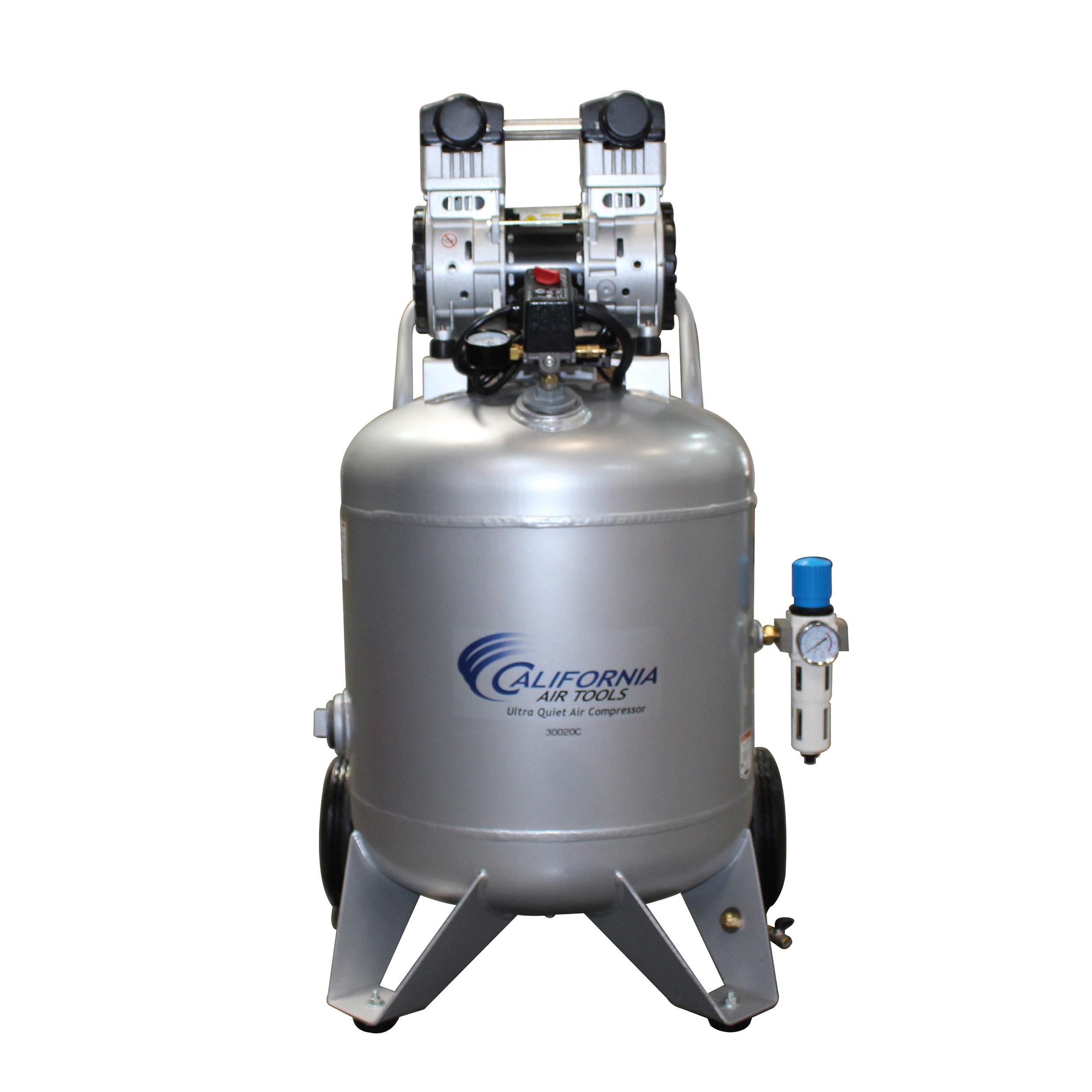 Steel Tank Air Compressor, 30020C-22060, Ultra Quiet  & Oil-Free  2.0 Hp, 30 gallon,  220v 60 hz