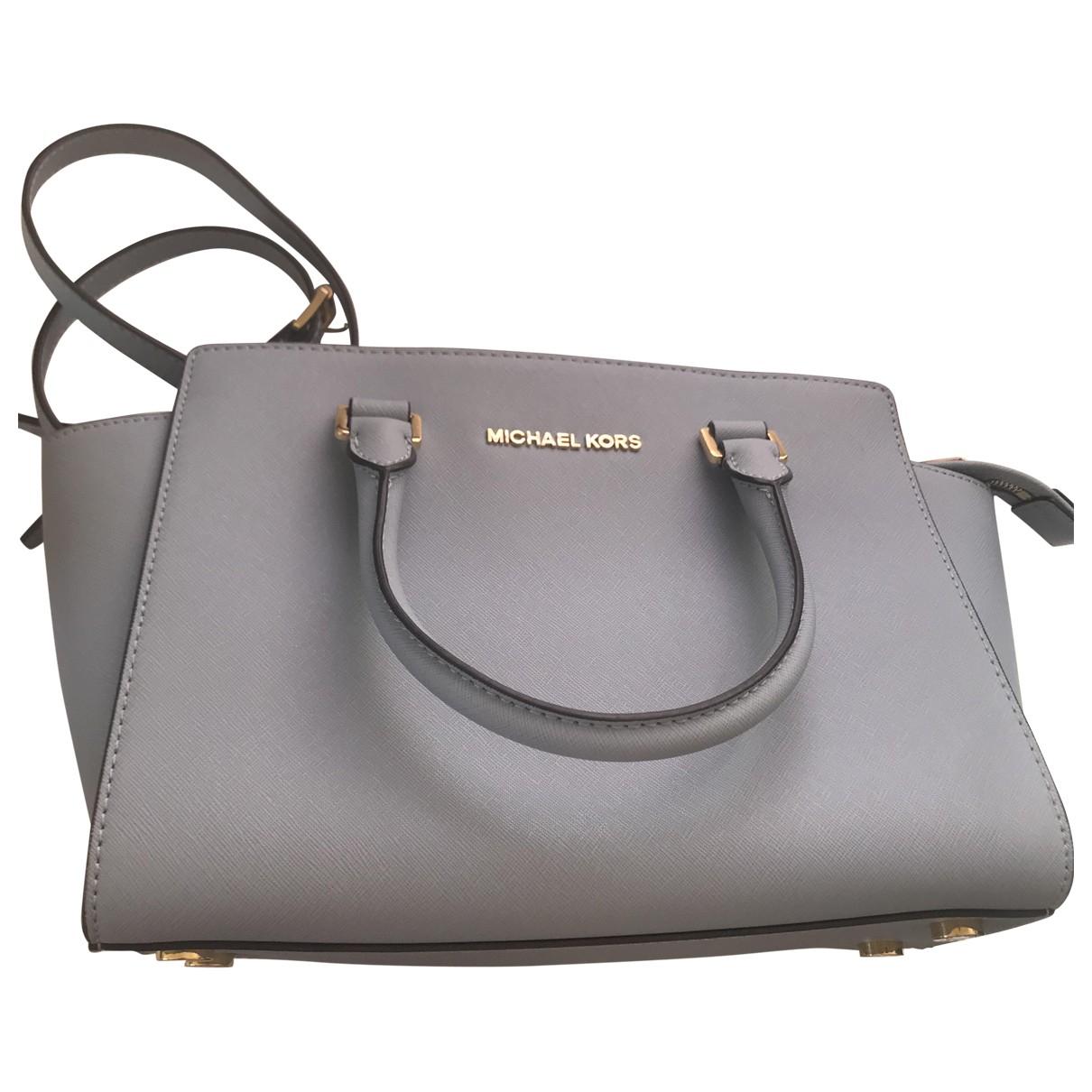 Michael Kors \N Blue Leather handbag for Women \N