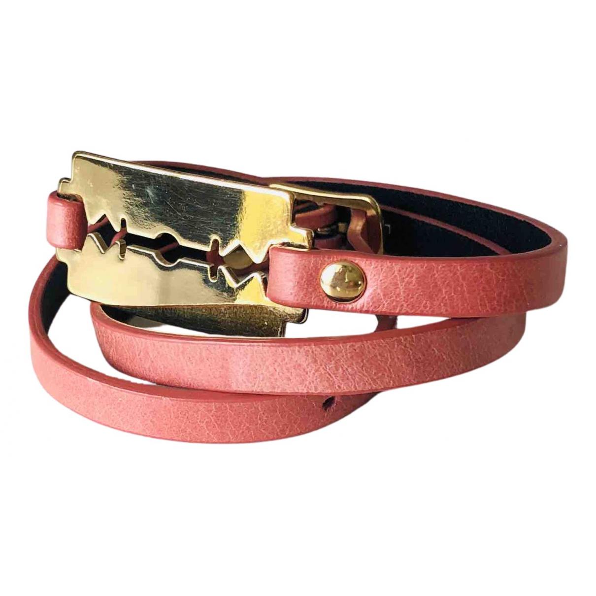 Mcq - Bracelet   pour femme en cuir - rose