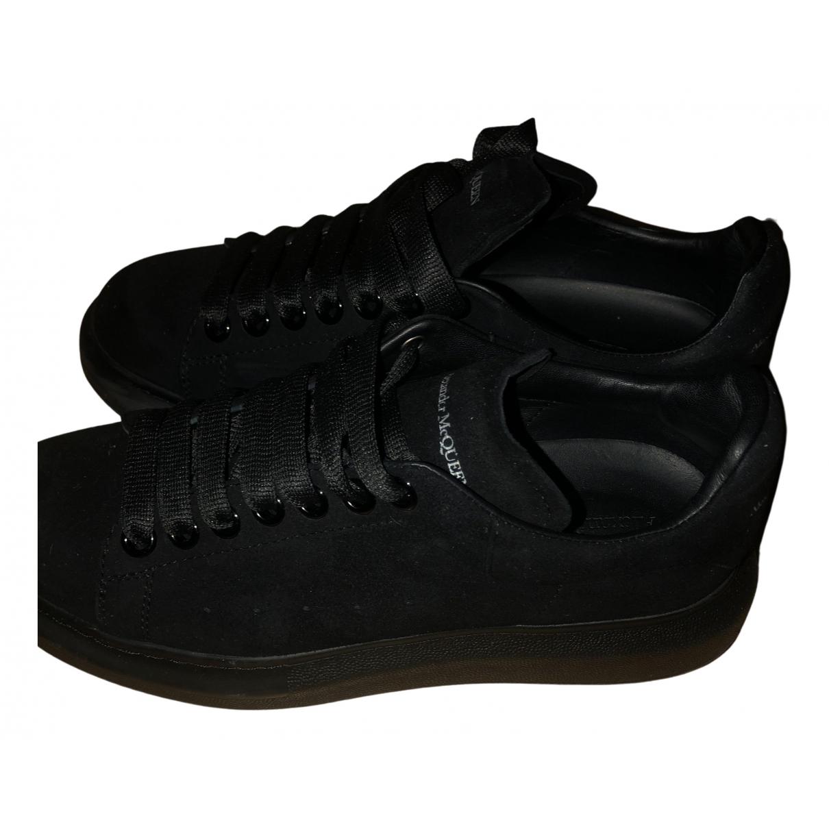Alexander Mcqueen - Baskets Oversize pour femme en suede - noir