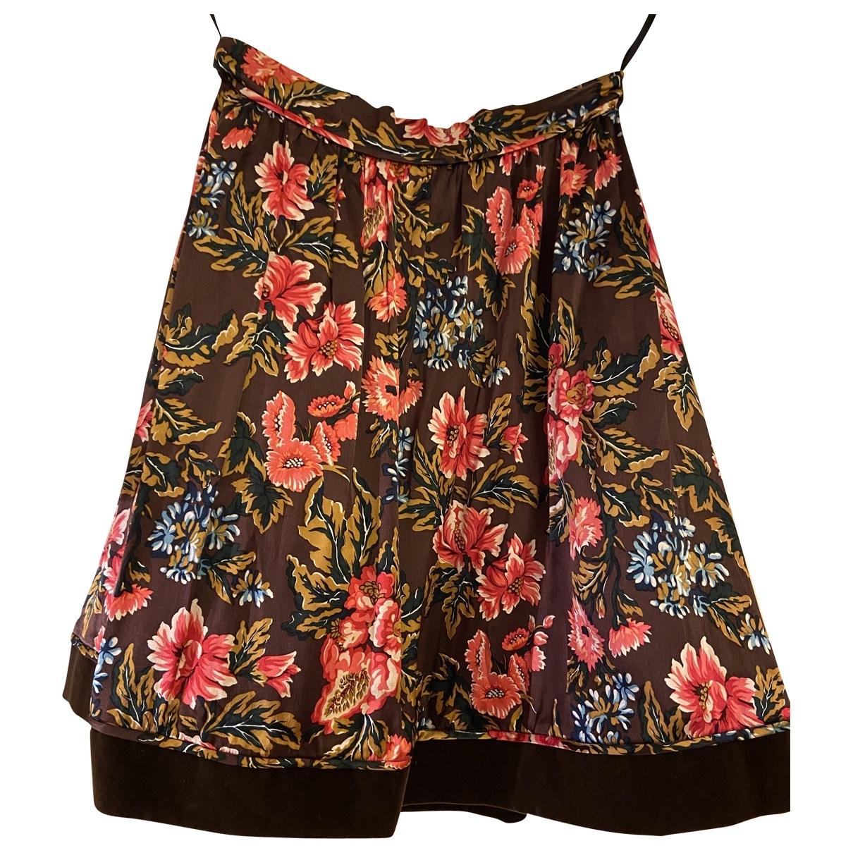 - Jupe   pour femme en soie - multicolore