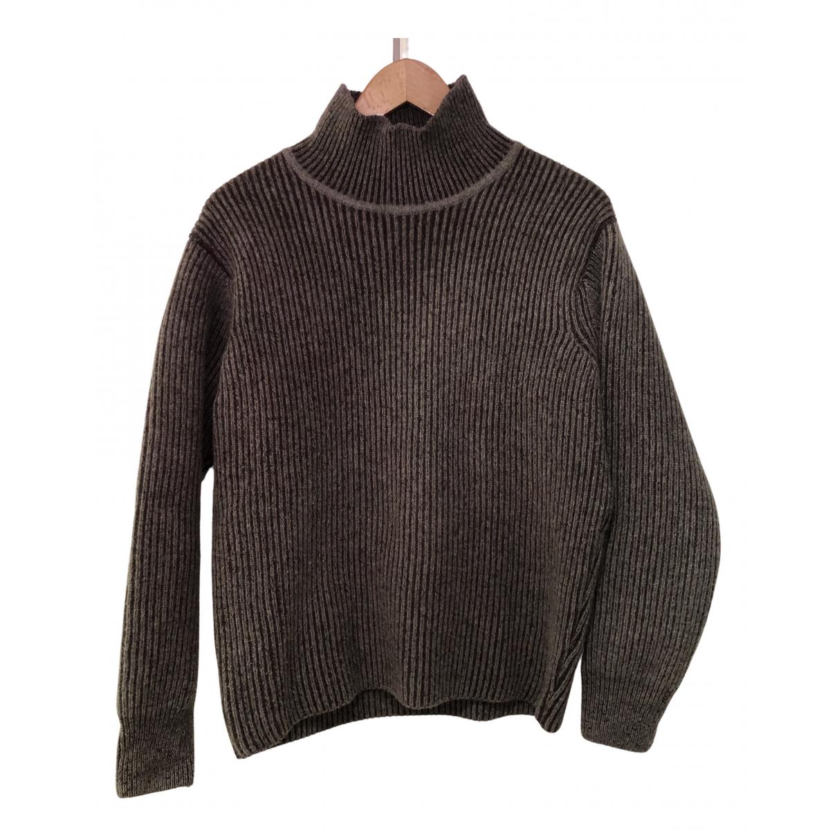 Maison Kitsune \N Pullover.Westen.Sweatshirts  in  Anthrazit Wolle