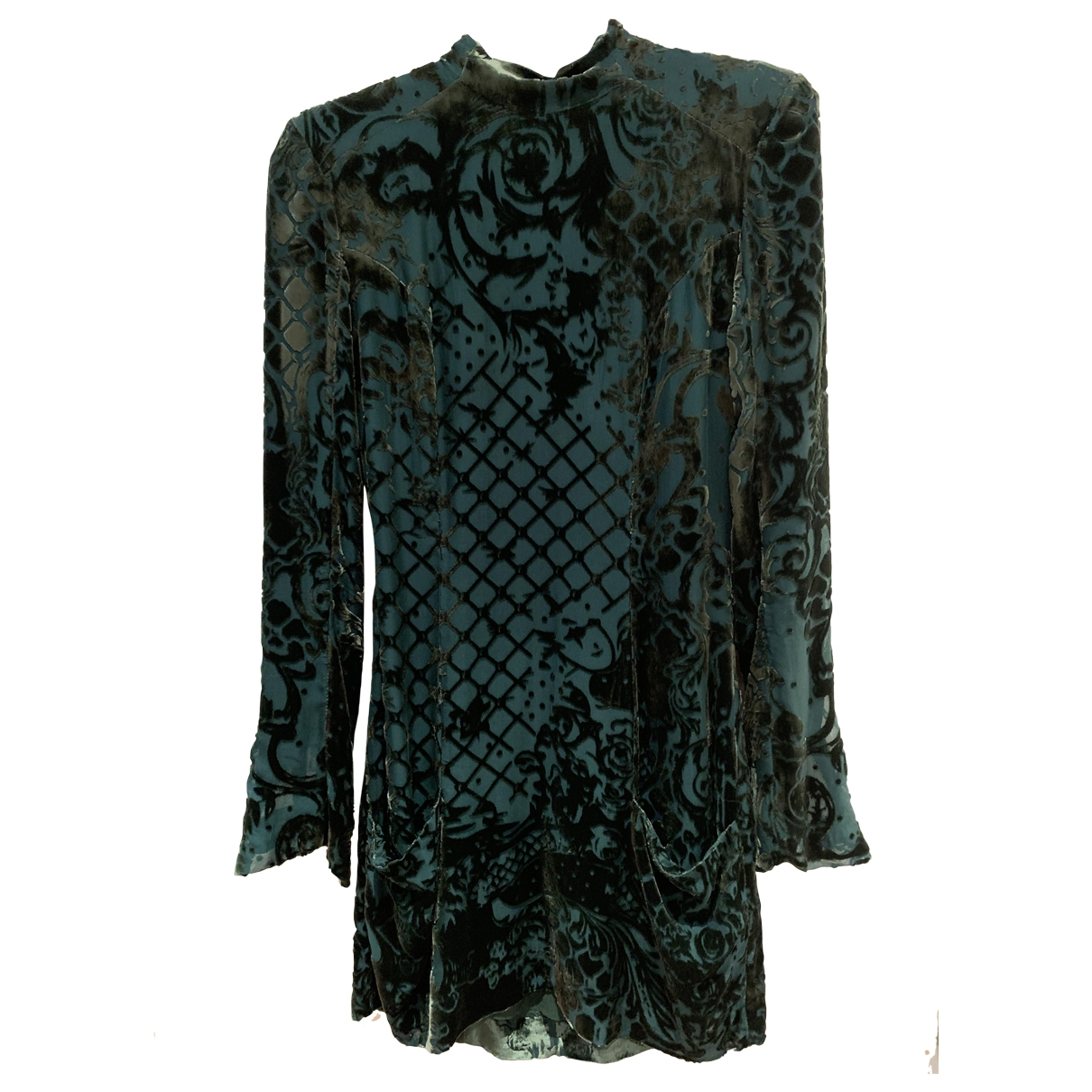 Balmain For H&m - Robe   pour femme en soie - vert