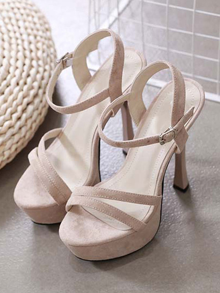 Milanoo High Heels Open Toe Stiletto Heel Chic Black Sexy Sandals
