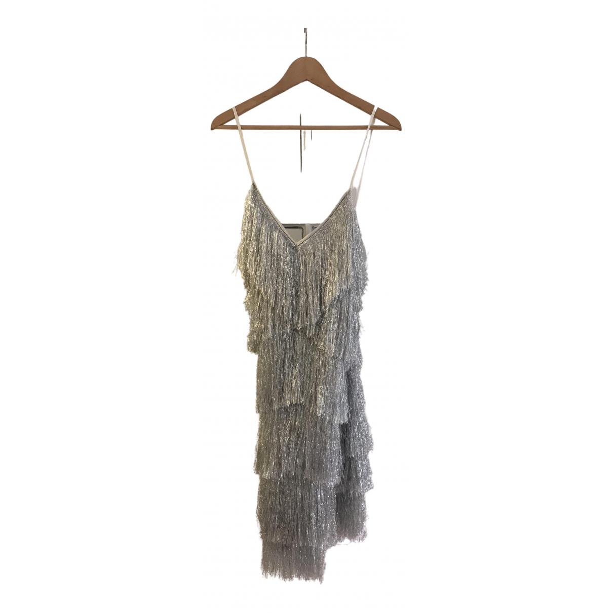 Walk Of Shame \N Kleid in  Silber Mit Pailletten