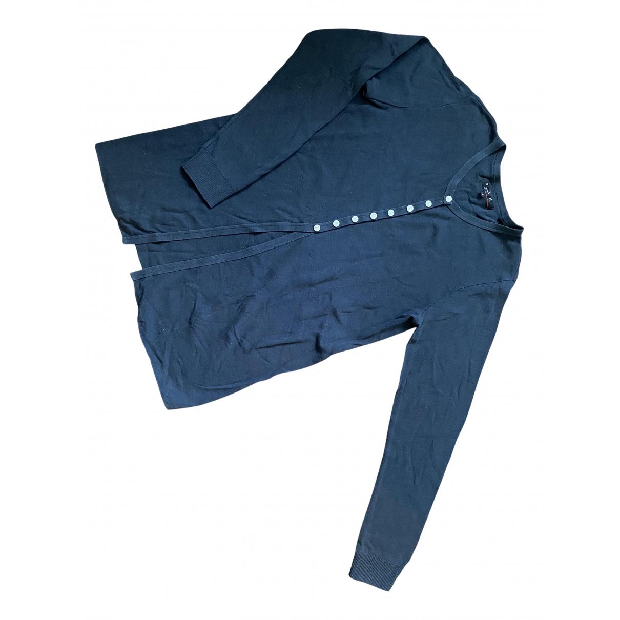 Agnès B. N Anthracite Cotton Knitwear for Women 2 US