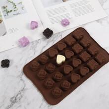 1 Stueck Schokoladenform mit 24 Gitter