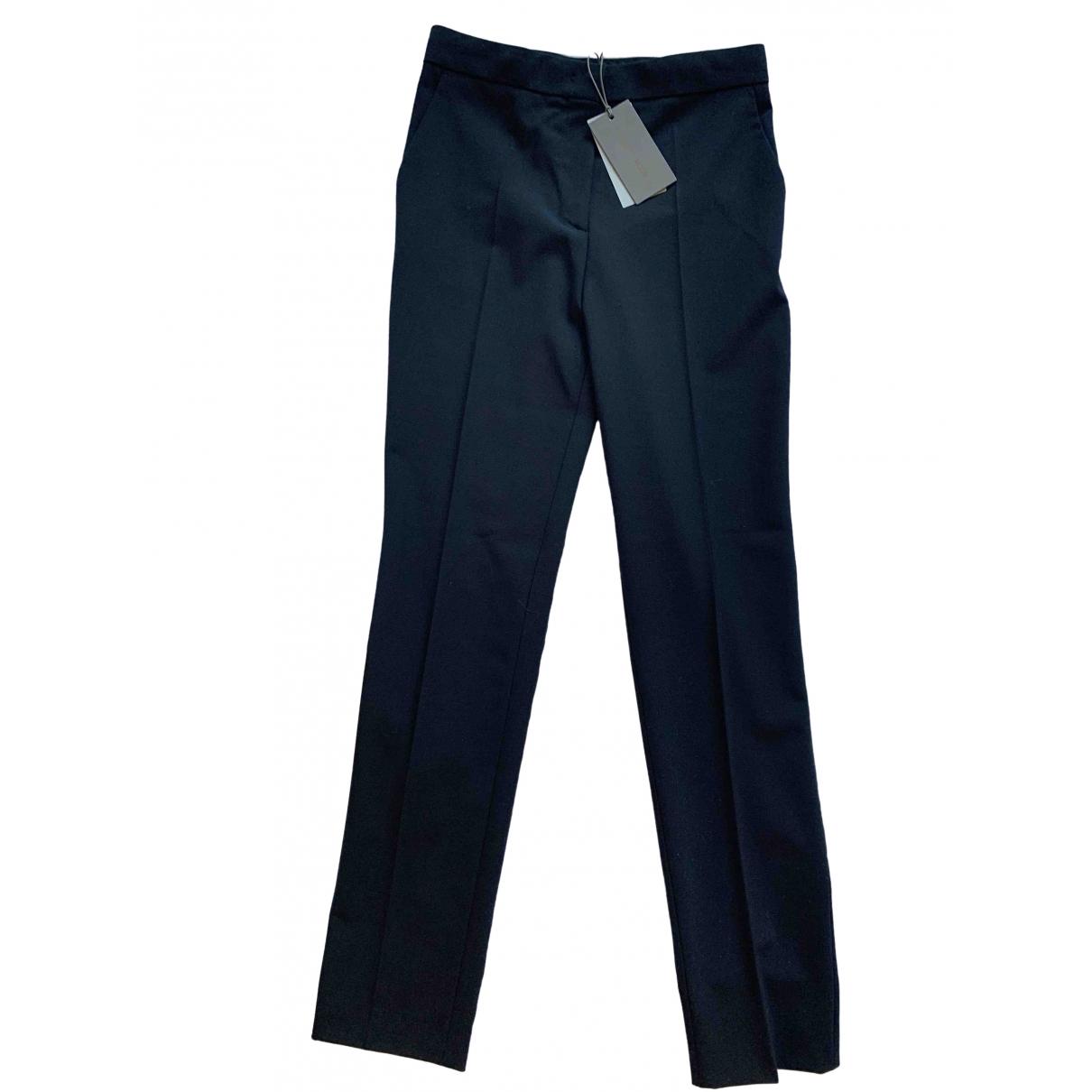 Alberta Ferretti \N Black Wool Trousers for Women 40 IT