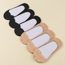 6pairs Solid Invisible Socks