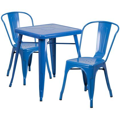 CH-31330 Collection CH-31330-2-30-BL-GG 3 Piece Indoor-Outdoor Table Set with 24