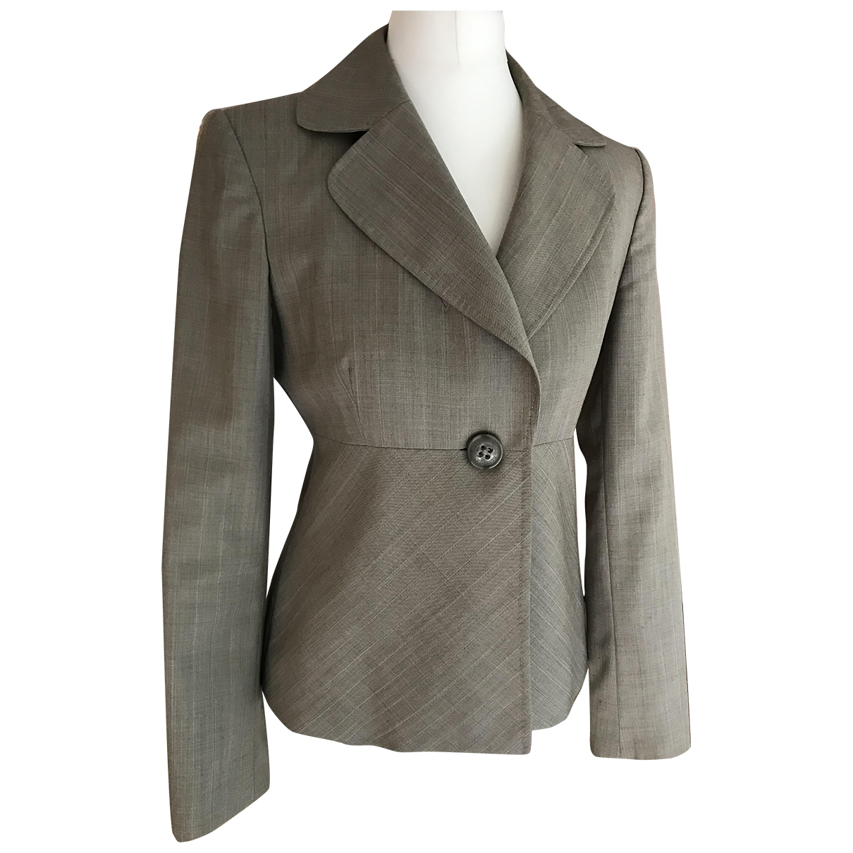 Non Signé / Unsigned Epaulettes Green Wool jacket for Women 0 0-5