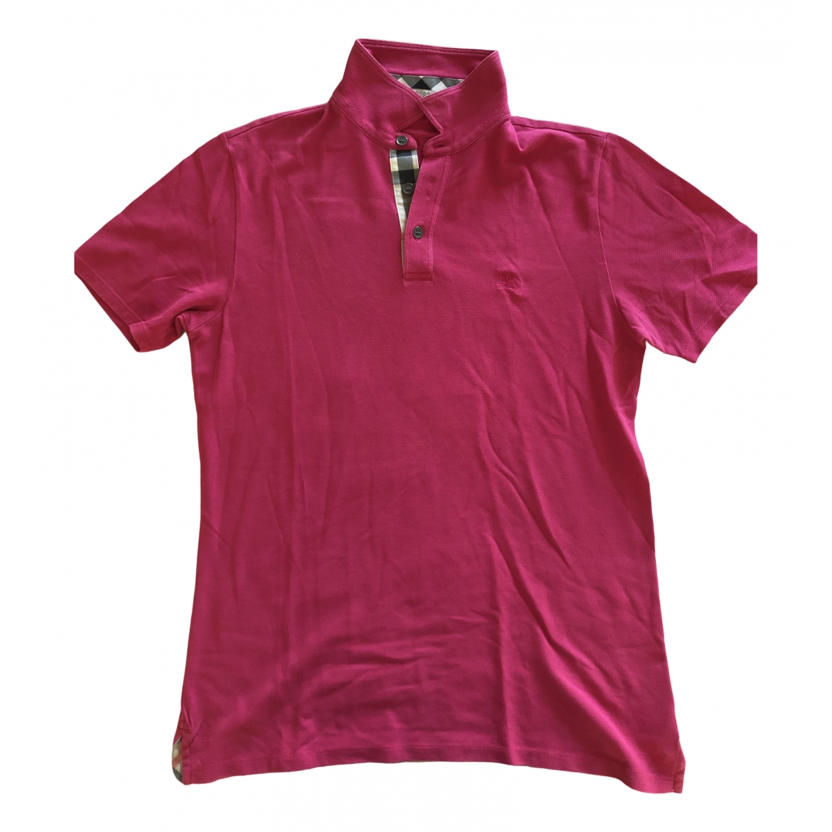 Burberry \N Pink Cotton Polo shirts for Men M International
