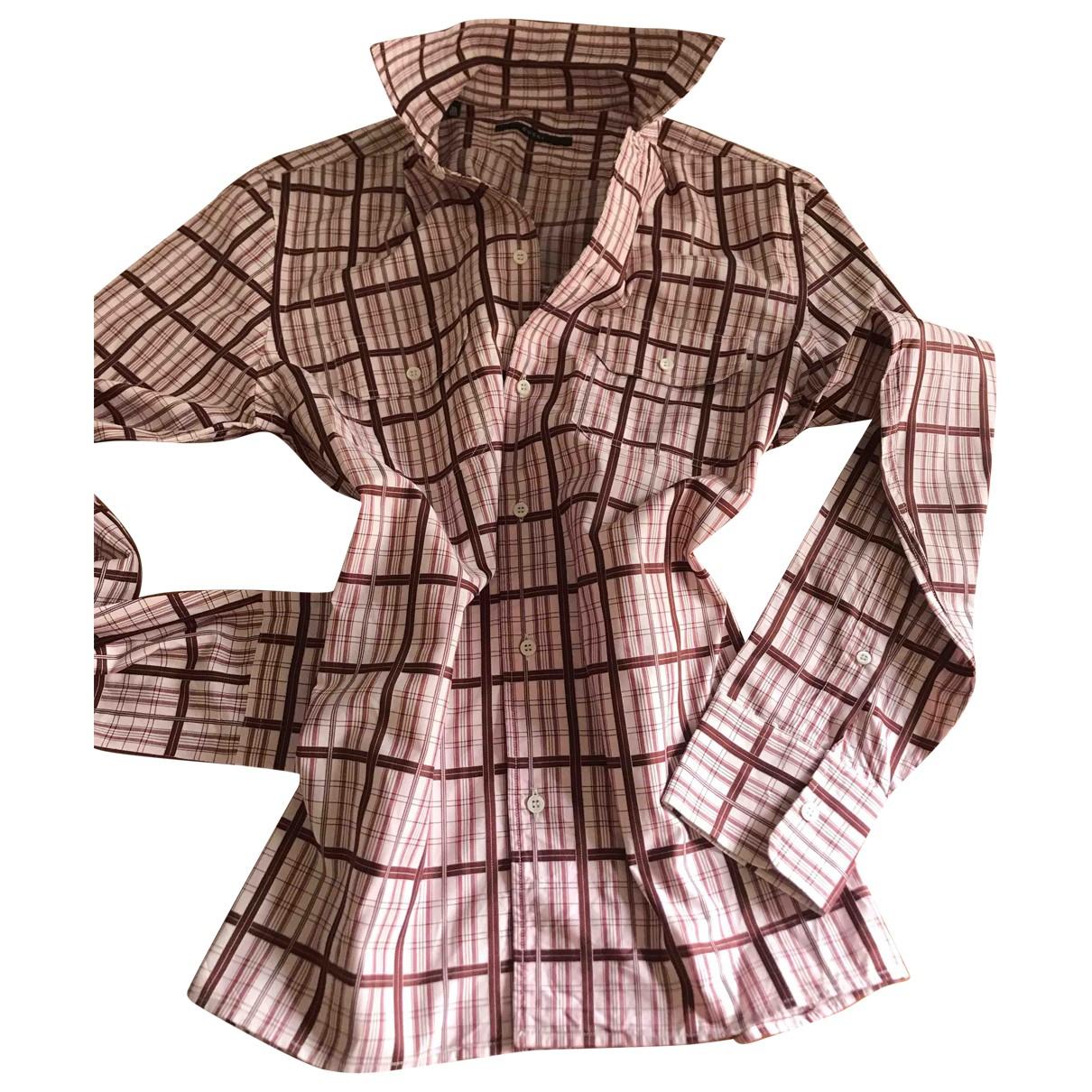 Gucci \N Burgundy Cotton Shirts for Men 39 EU (tour de cou / collar)