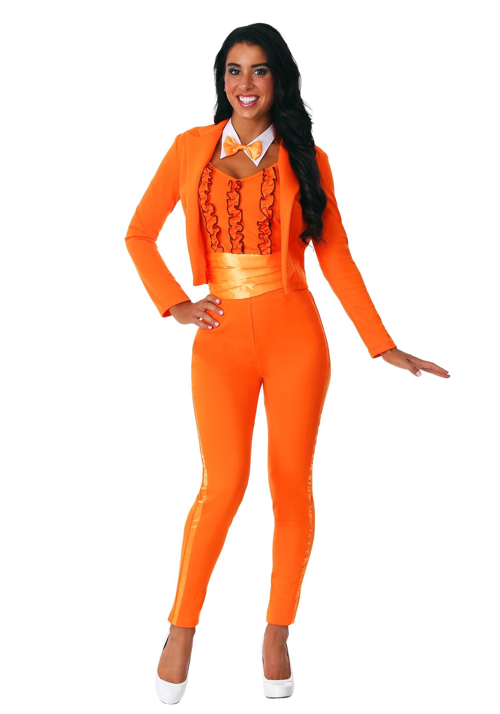 Women's Orange Tuxedo Costume