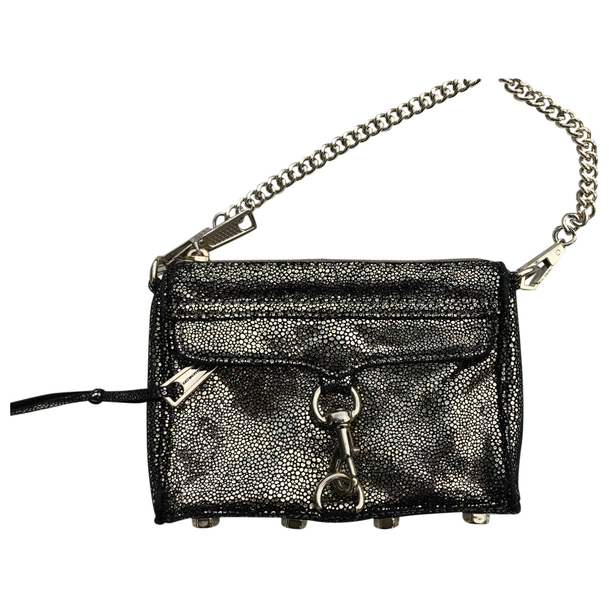 Rebecca Minkoff \N Clutch in  Gold Veloursleder