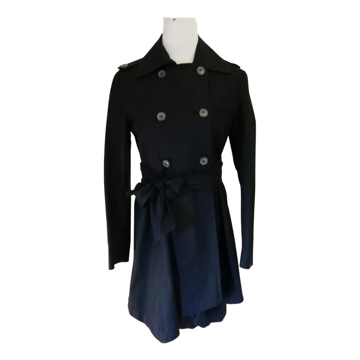 Zara N Black Cotton coat for Women 38 FR