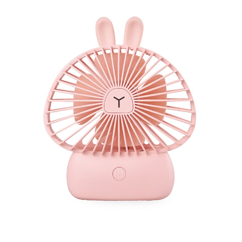 Bunny Model Colorful Night Lights Noiseless Wind Stability USB Fans