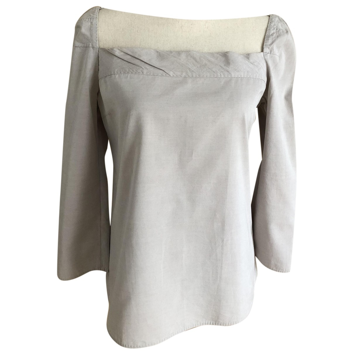 Louis Vuitton N Grey Cotton  top for Women 38 FR