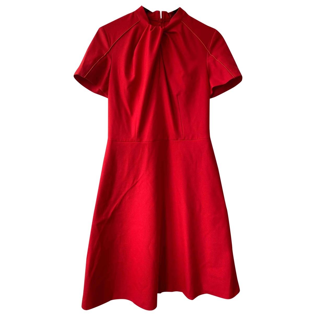 Hugo Boss \N Kleid in  Rot Polyester