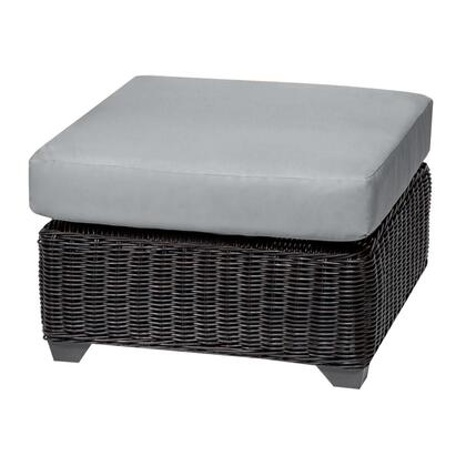 TKC050b-O-GREY Venice Ottoman with 2 Covers: Wheat and