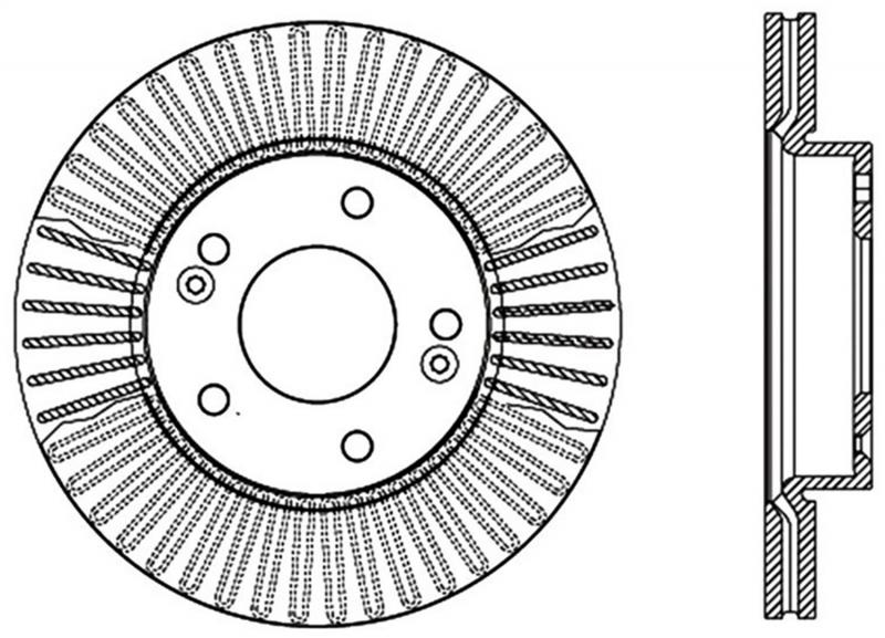 StopTech 127.50026L Sport Drilled/Slotted Brake Rotor; Front Left Kia Soul Front Left 2010-2011