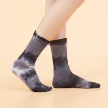Calcetines flexibles con patron de tie dye