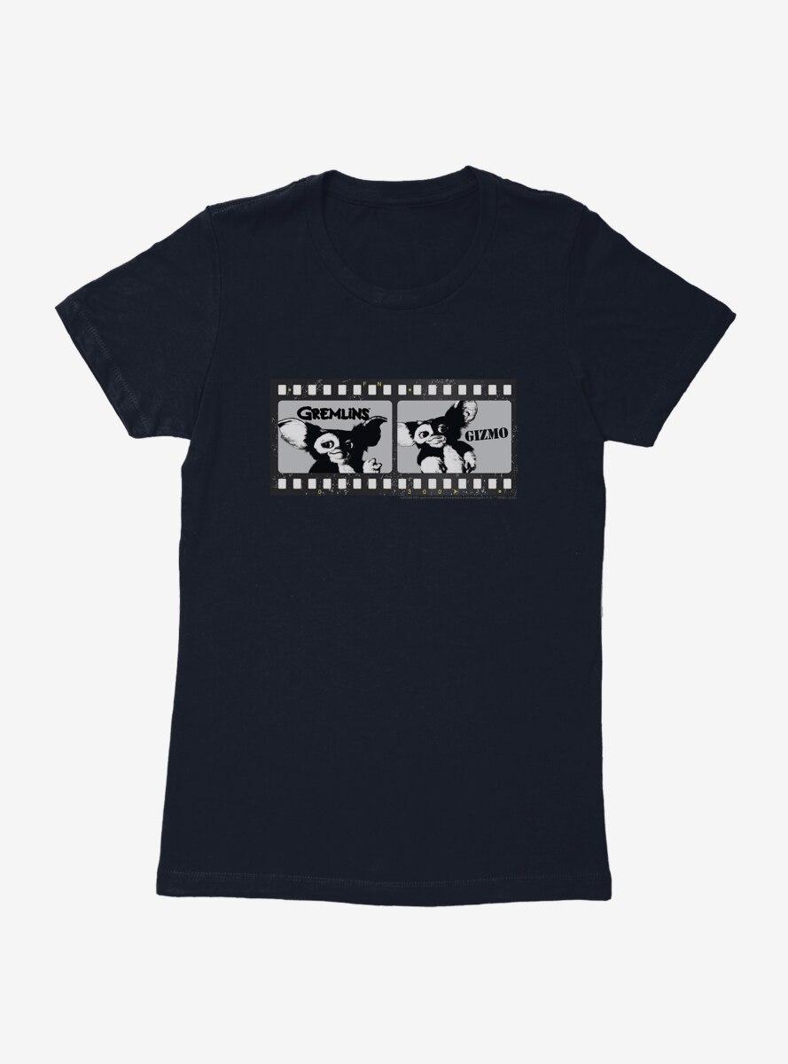 Gremlins Gizmo Film Strip Black And White Womens T-Shirt