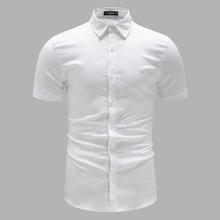 Men Short Sleeve Solid Shirt