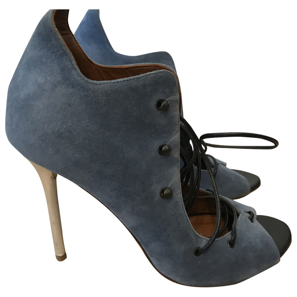 Malone Souliers \N Blue Suede Sandals for Women 39 EU