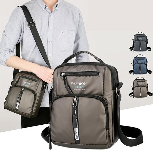 Men Oxford Business Shoulder Bags Multi-pocket Chest Bag
