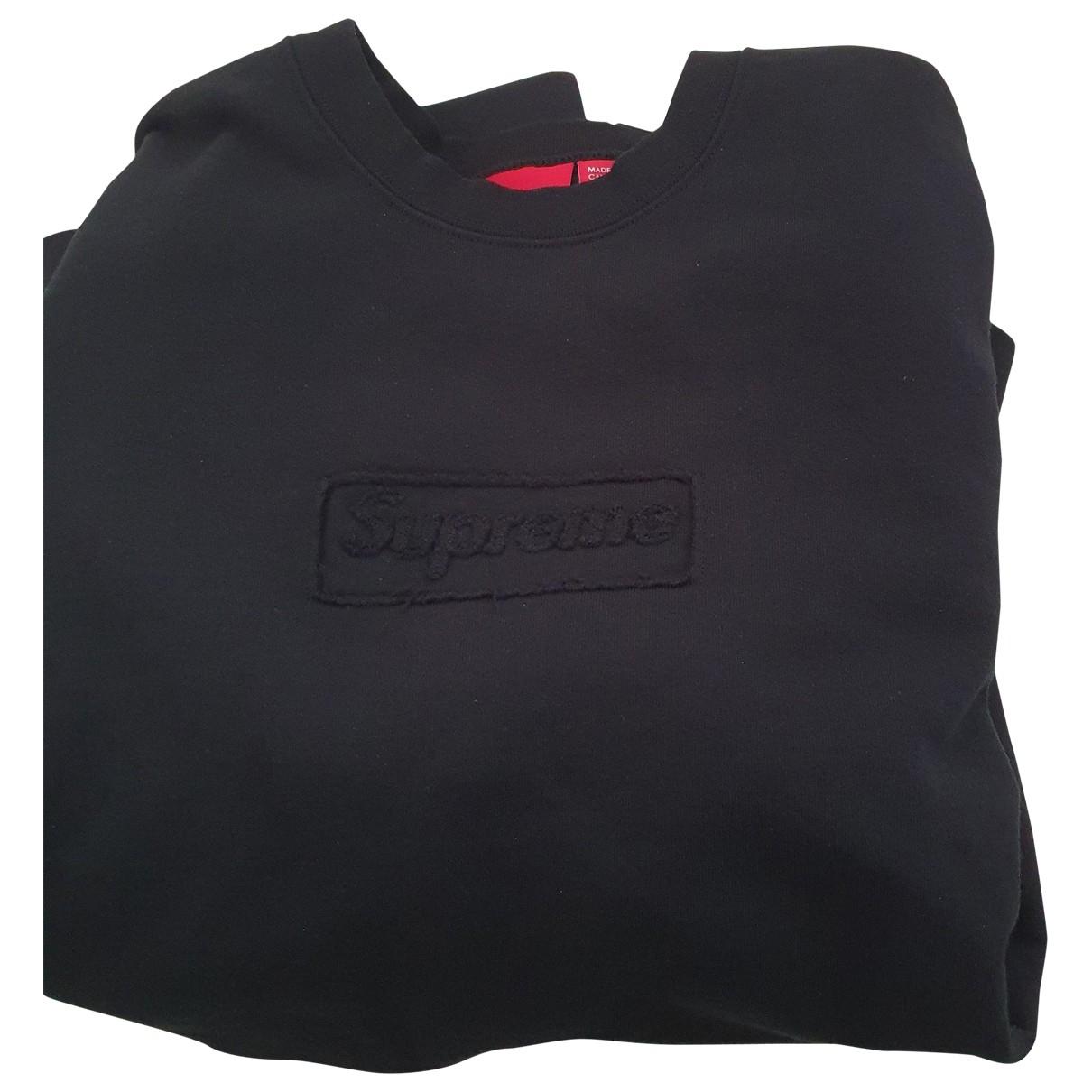 Supreme - Pulls.Gilets.Sweats   pour homme en coton - noir