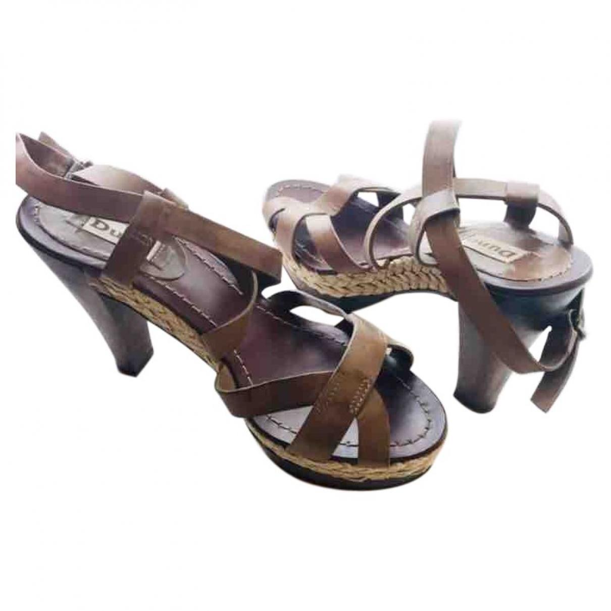 Dune - Sandales   pour femme en cuir - marron